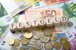 Leinwanddruck Bild - Festgeld