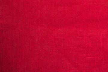 red cloth fabric background closeup