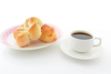美味しそうなパンと珈琲