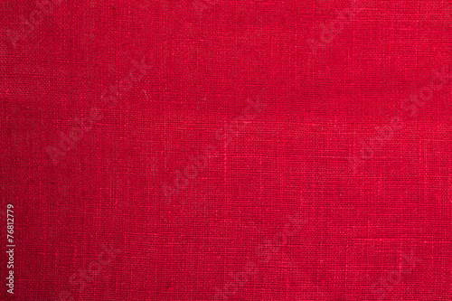 red cloth fabric background closeup - 76812779