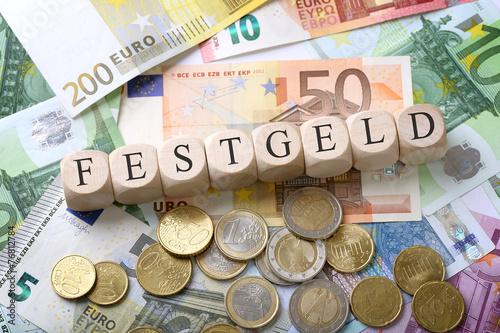 Leinwanddruck Bild Festgeld