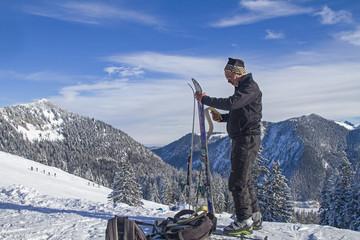 Skitourengeher im Spitzingseegebiet