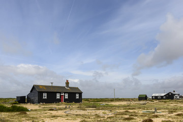 black holiday bungalow at Dungedness