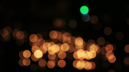 De focused, bokeh or blur candle lighting abstract Background.