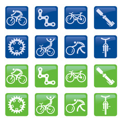 Bicycle buttons icons