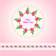 Beautiful roses post card for Mothers Day