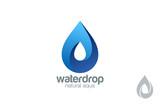 Logo Water drop abstract design. Waterdrop Logotype - 76814598