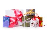 gift box bow christmas balls