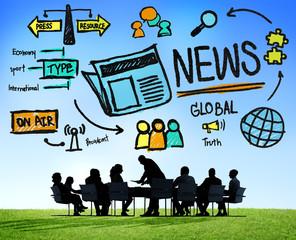 News Journalism Information Publication Update Concept