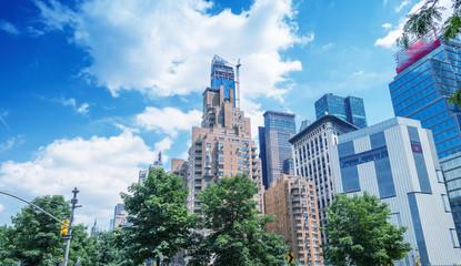 Manhattan skyline. Buildings and skyscrapers of New York CIty