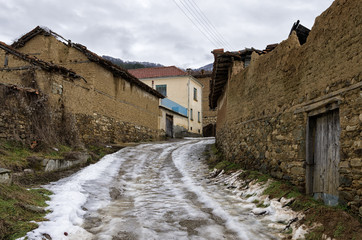 Street in Antartiko village, Florina, Greece