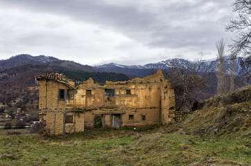 Old and abandoned house in Antartiko village, Florina, Greece