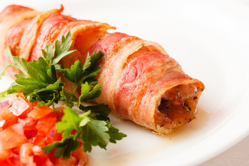 sausage wrapped in bacon