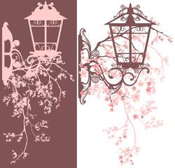 spring season street light decor