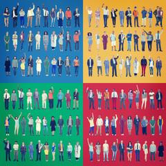 Diversity People Work Multiethnic Group Concept