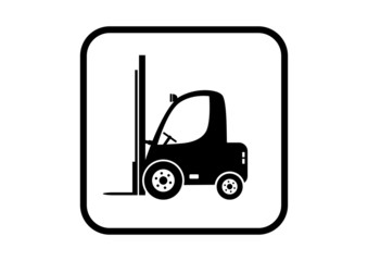 Forklift vector icon on white background
