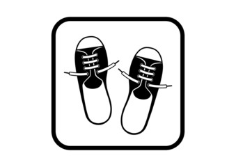 Shoes vector icon on white background