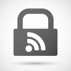 Lock icon with a RSS sign