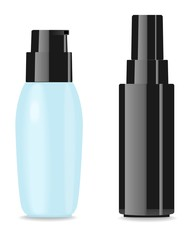 Two blank glamour cosmetic packages. Place for your text
