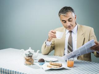 Business having a nutrient breakfast