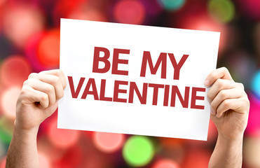 Be My Valentine card with colorful background