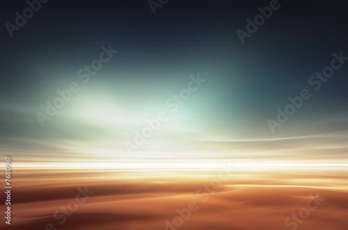 Mars desert like fantasy landscape - 76817961