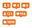 Set of social icons like instagram