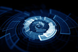 Fototapety 3D rotating circular elements background