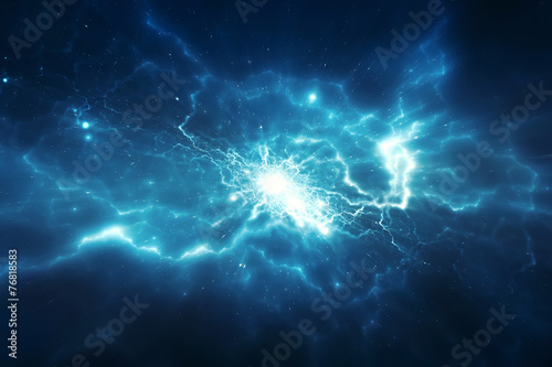 Abstract blurry explosion background - 76818583