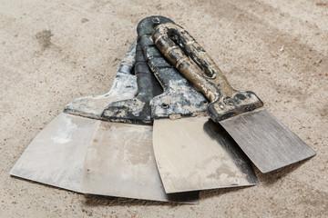 Dirty spatulas