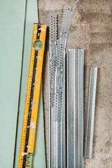 Materials for build a plasterboard walls