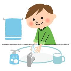 子ども-手洗い