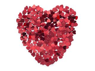 heart from confetti