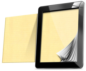 Tablet Computer with Lined Pages