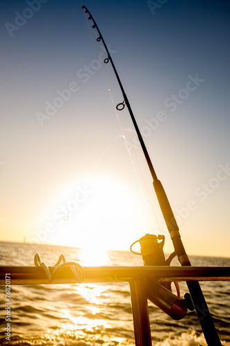 Canvas Vissen Sunrise Fishing