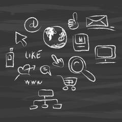Nachricht Konzept Internet Email Computer WWW like