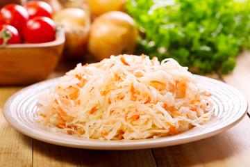 sauerkraut in a plate