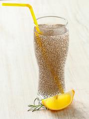Chia seeds lemonade