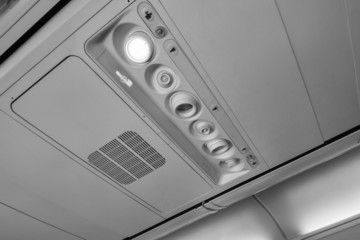 Italy, airplane cabine with no smoking sign on