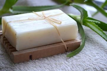 Натуральное мыло с алоэ