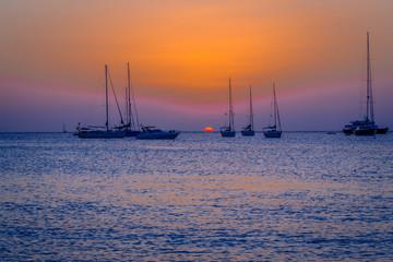 Barche al tramonto, Formentera