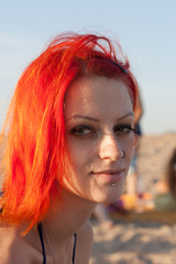 Red Hair Girl on beach