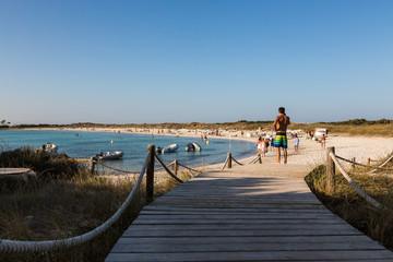Verso la spiaggia di Illetes, Formentera
