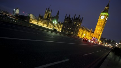 Big Ben,  Palace of Westminster, at Night