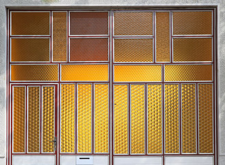 Yellow textured glass