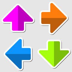 Arrows colored