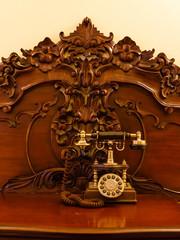 Telephone set in retro style