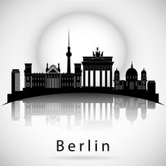 Berlin skyline. Vector city silhouette