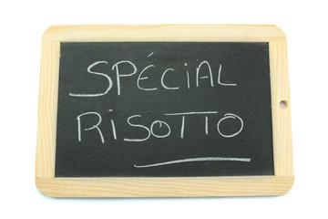 ardoise spécial risotto