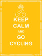 Keep calm and go cycling - 76825903